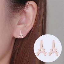 Simple Style Letter A Shape Stud Earrings
