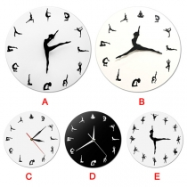 Creative Style Dancing Girl Quartz Wall Clock
