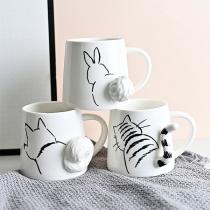 Cute Cat/Rabbit Pattern Ceramic Mug