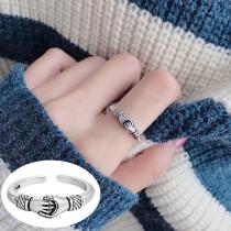 Creative Style Handshake Shaped Open Ring