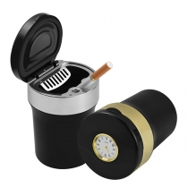 Portable Multifunctional Car Ashtray with Clock and LED Lights
