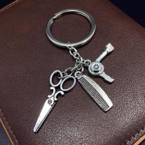 Creative Style Hair Trimmer Pendant Key Chain