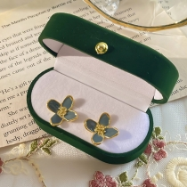 Sweet Style Flower Shaped Stud Earrings with Box