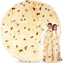 Creative Style Pancake Shaped Flannel Blanket