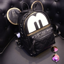 Cartoon Style Micky Shaped Rivets Backpack