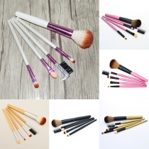 Professional Beauty Solid Color Holder 5pcs Makeup Cosmetic Brushes Set