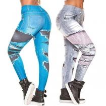 Fashion High Waist Slim Fit Printed Leggings