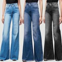Fashion High Waist Wide-leg Jeans