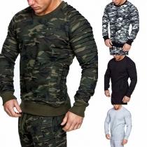 Fashion Long Sleeve Round Neck Man's Sweatshirt
