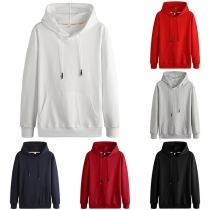 Casual Style Long Sleeve Solid Color Man's Hoodie