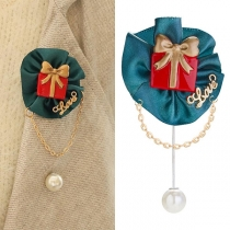 Fashion Imitation Pearl Pendant Brooch