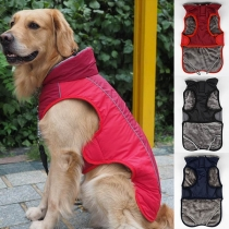 Fashion Contrast Color Plush Lining Vest for Pets Puppy