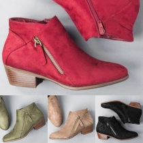 Fashion Square Collar Pointed Toe Ankle Boots Booties