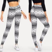Fashion High Waist Stretch Printed Leggings