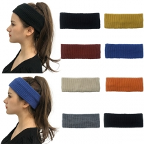 Fashion Solid Color Knit Headband