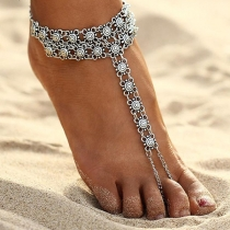Bohemian Style Silver-tone Alloy Anklet