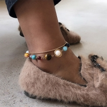 Chic Style Planets Pendant Dual-layer Bracelet/Anklet