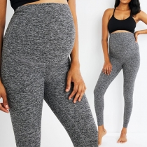 Fashion Solid Color High Waist Maternity Leggings