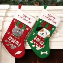 Cute Cartoon Printed Christmas Sock