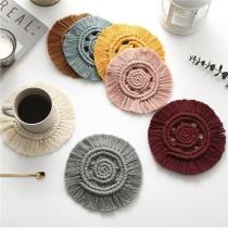 Bohemian Style Hand-woven Tassel Insulation Mat