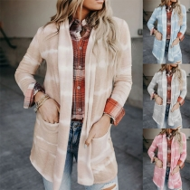Fashion Tie-dye Printed Long Sleeve Thin Cardigan