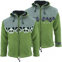 Cute Style Animal Pattern Long Sleeve Hooded Knit Coat