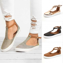 Casual Style Flat Heel Round Toe Shoes