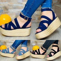 Fashion Thick Sole Open Toe Sandals