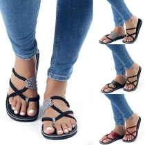 Bohemian Style Flat Heel Flip-flops