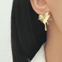 Chic Style An Arrow Through the Heart Shaped Stud Earrings
