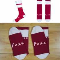 Fashion Letters Printed Contrast Color Mid-calf Length Socks