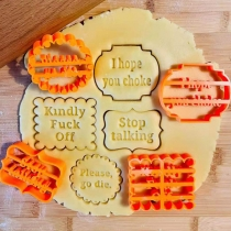 Cookie Molds With Good Wishes 4 Piece Set