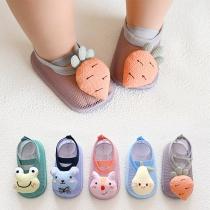 Cute Animal/Fruit Shape Anti-slip Breathable Baby Toddler Floor Socks Shoes