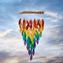 Creative Style Colorful Maple Leaf Wind Chime