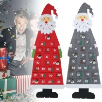 Creative Style DIY Santa Claus Shaped Countdown Wall Calendar