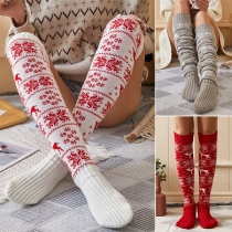 Fashion Snowflake Pattern Over-the-knee Knit Stockings