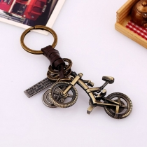 Retro Style Bicycle Shape Pendant Key Chain